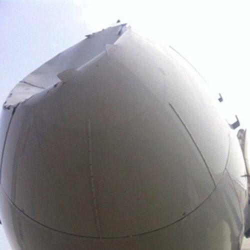 曝中国民航客机曾遭受外星人UFO撞击