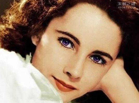 世界上稀有的紫色瞳孔,真是美到极致