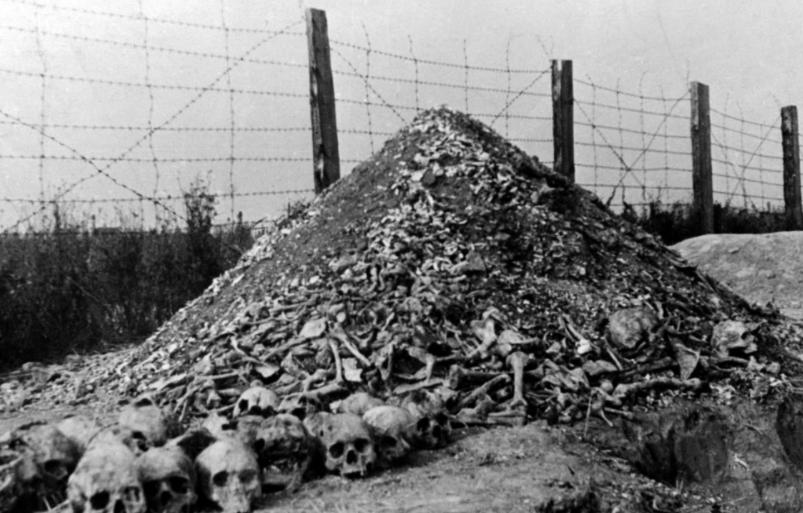 大屠杀的照片揭示了纳粹的恐怖不禁潸然泪下