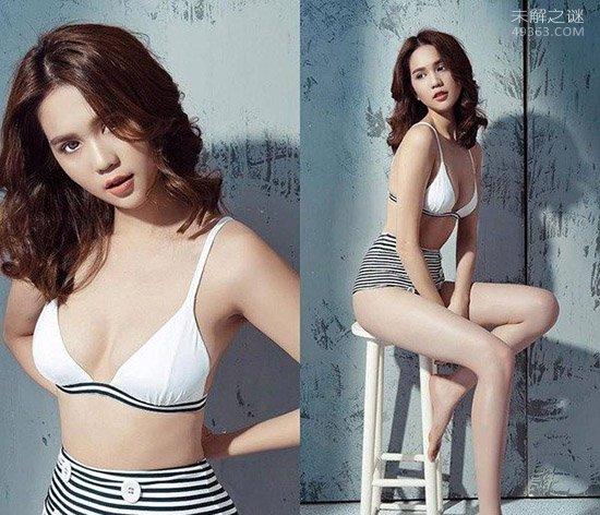 越南版昆凌,Ngoc Trinh吸引宅男,越南第一美女