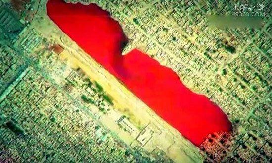 伊拉克血湖颜色十分骇人还有一股令人作呕的血腥味(2007年消失)