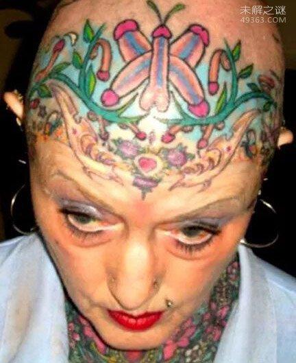 世界十大最疯狂的纹身,美国女子展示肛门纹身