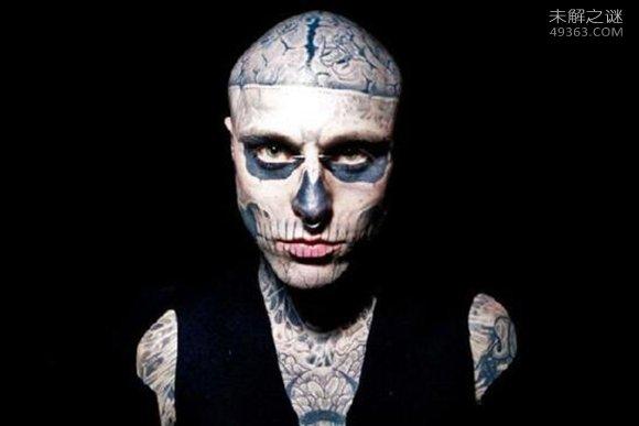 僵尸男孩瑞克・格内斯特:16岁开始刺下第一个纹身